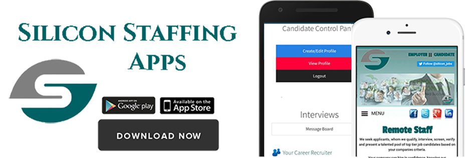 Silicon Staffing offers Android Applications for employers and job seekers